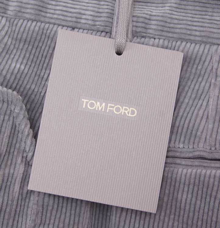 Tom Ford Light Gray Corduroy Pants 32W - Top Shelf Apparel - 3