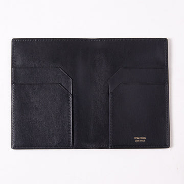 Tom Ford Black Leather Passport Wallet