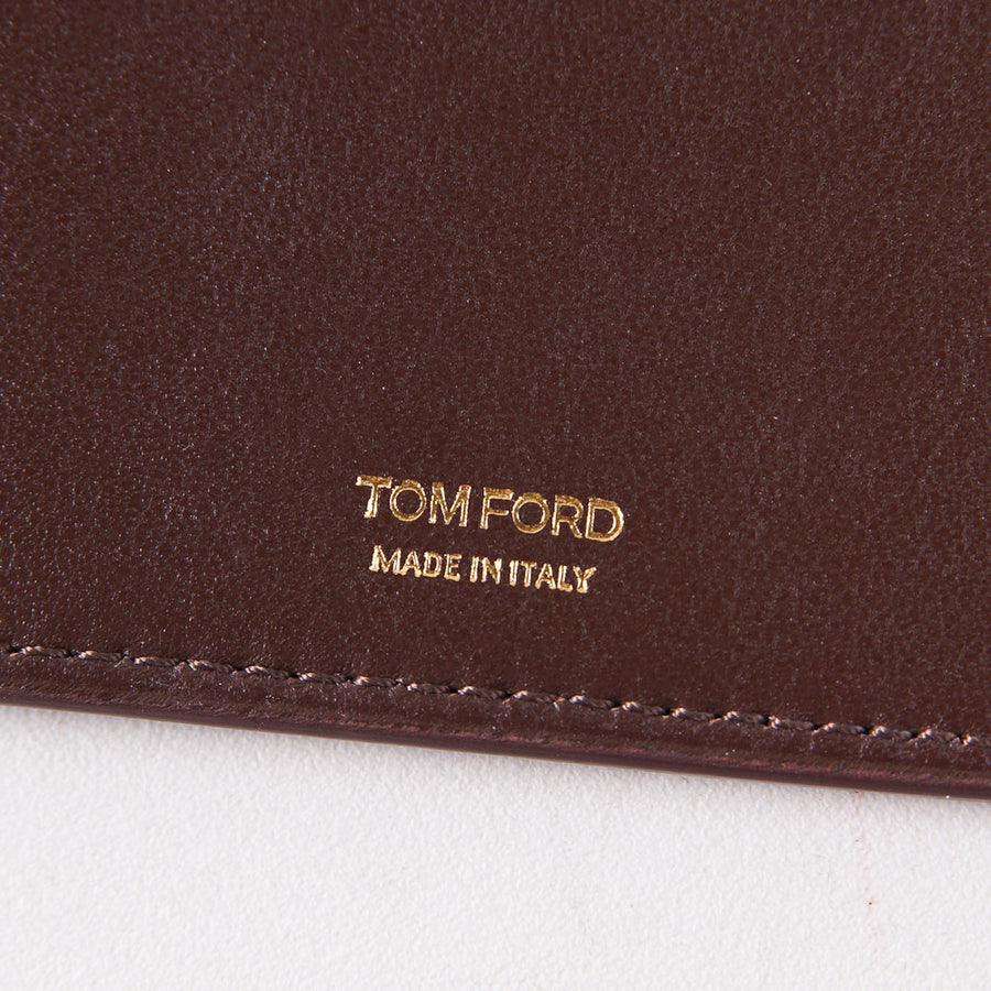 Tom Ford Brown Leather Passport Wallet