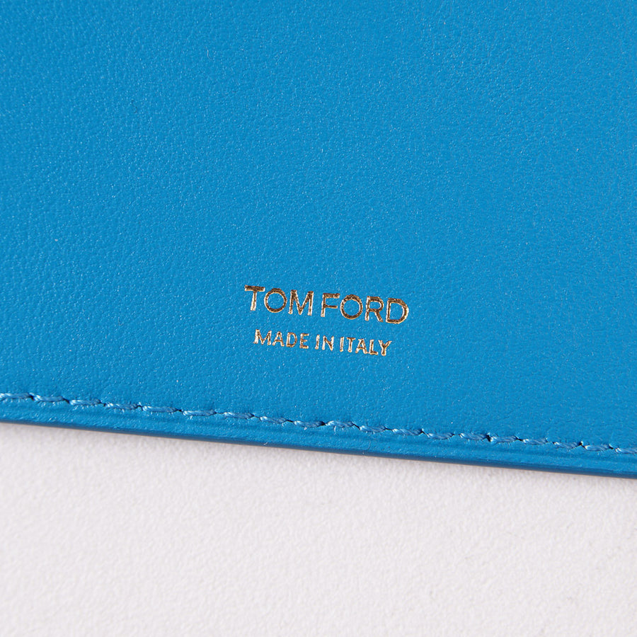 Tom Ford Turquoise Leather Passport Wallet