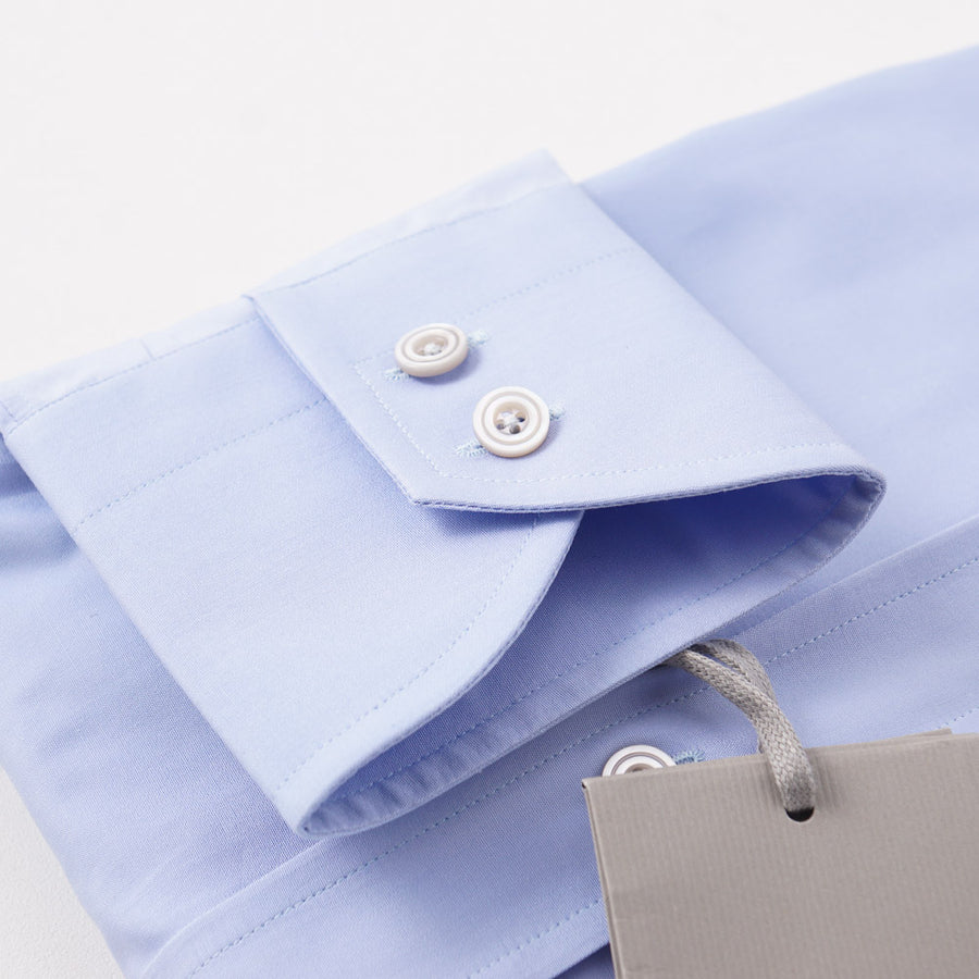 Tom Ford Fine Poplin Shirt in Sky Blue - Top Shelf Apparel