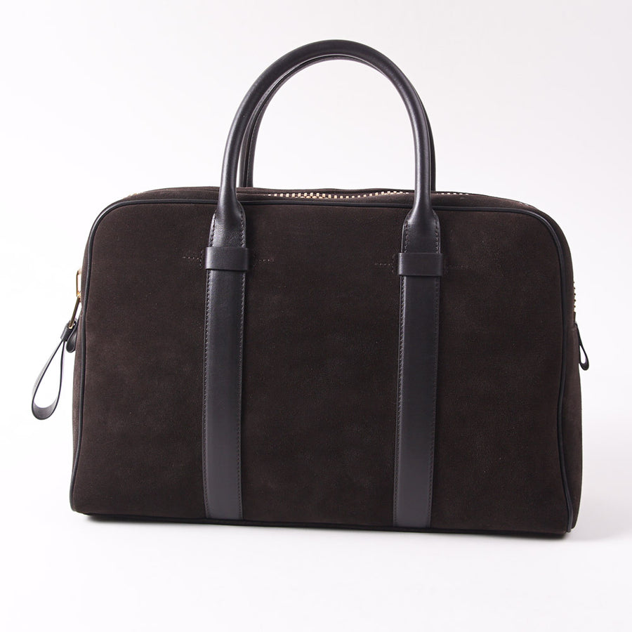 Tom Ford Small 'Buckley' Brown Suede Briefcase - Top Shelf Apparel