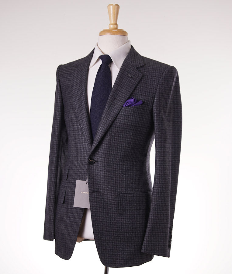 Tom Ford Gray Check Wool-Cashmere Suit - Top Shelf Apparel