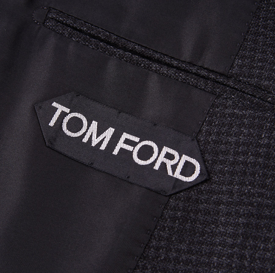 Tom Ford Wool Suit with Suede Details
