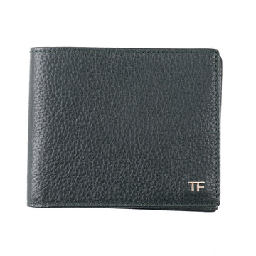 Tom Ford Green Leather Wallet with Silver Emblem