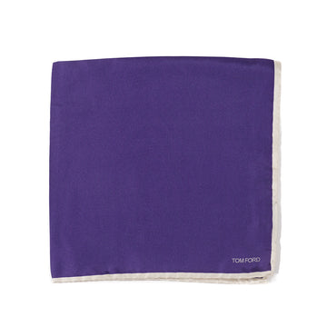 Tom Ford Contrasting Border Pocket Square