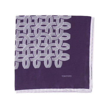 Tom Ford Interlocking Print Pocket Square