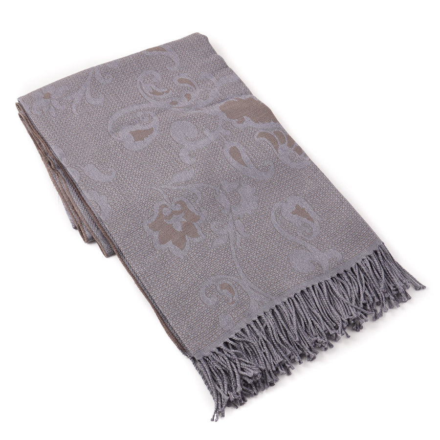 Battisti Paisley Jacquard Wool Throw Blanket