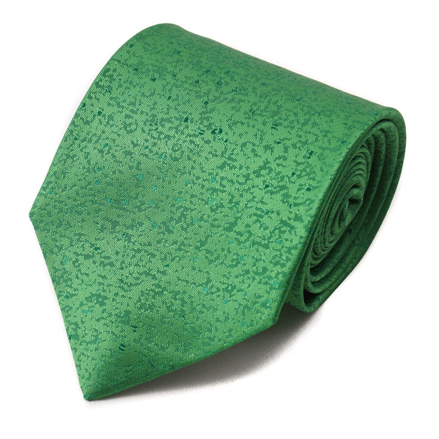 Isaia Bright Melon Green Patterned Silk Tie