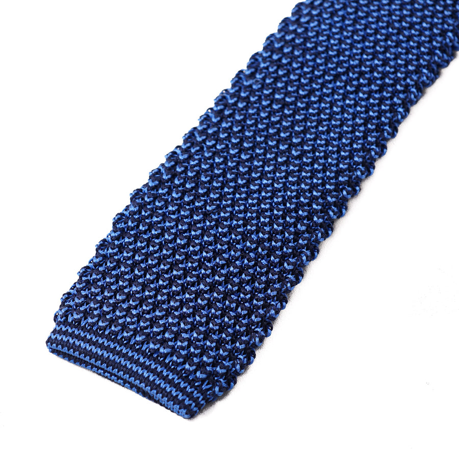 Roda Blue Knit Silk Tie