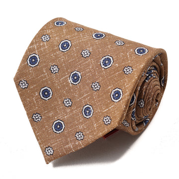 Isaia 7-Fold Foulard Print Silk Tie - Top Shelf Apparel