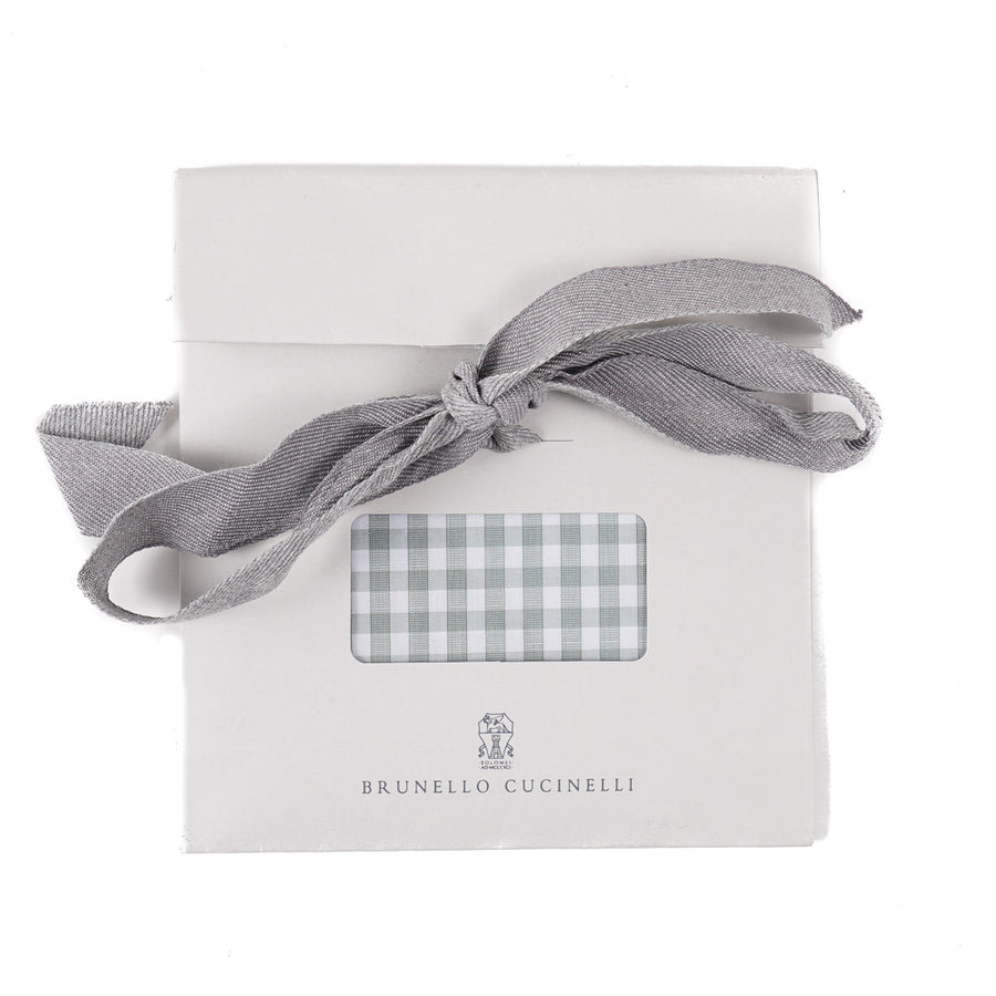 Brunello Cucinelli Gingham Check Pocket Square