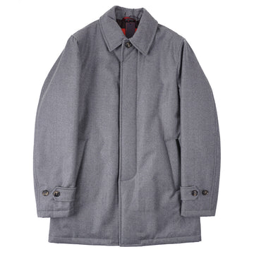 Isaia Gray Wool Outer Coat - Top Shelf Apparel