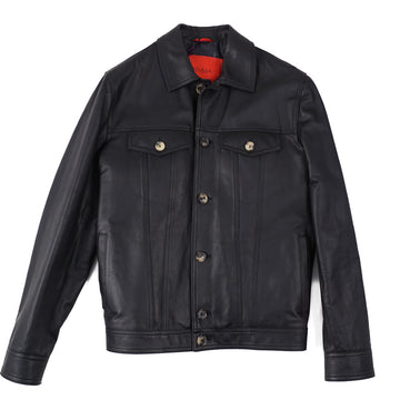 Isaia Baby Buffalo Leather Jacket