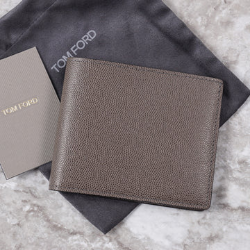 Tom Ford Gray Pebble Grain Leather Wallet
