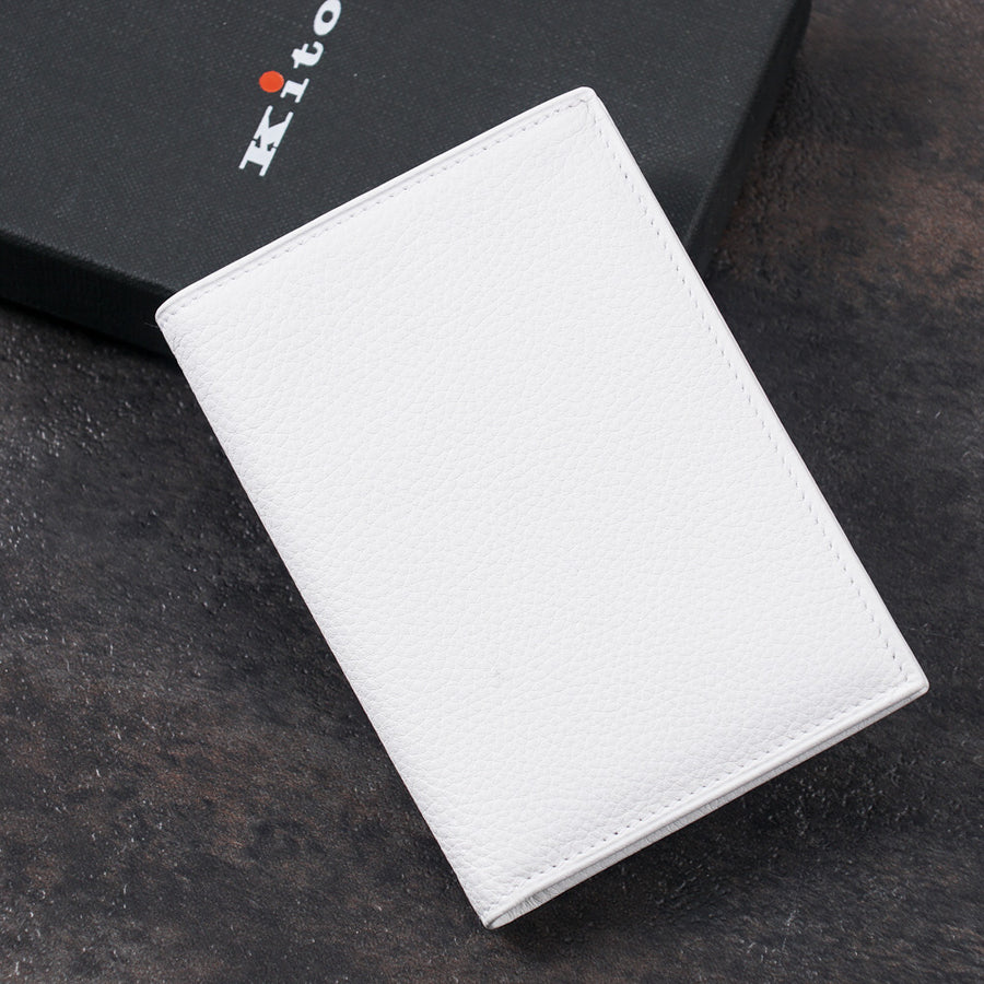 Kiton Bi-Fold Leather Wallet in White