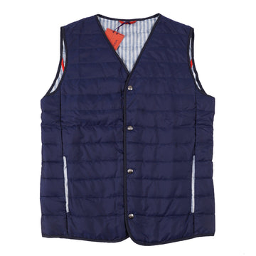 Isaia Quilted 'Extralight Aqua Silk' Vest - Top Shelf Apparel