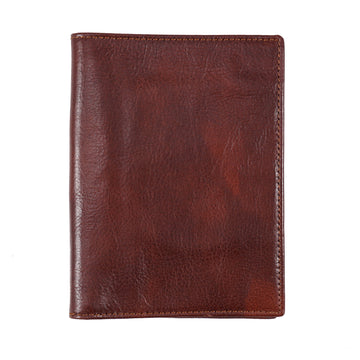 Isaia Large Size Vintage-Effect Leather Wallet