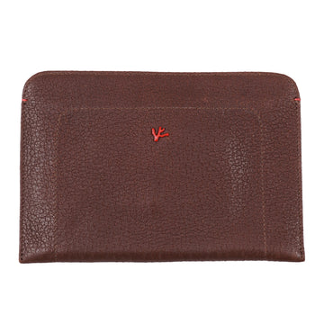 Isaia Peccary Leather Document Case