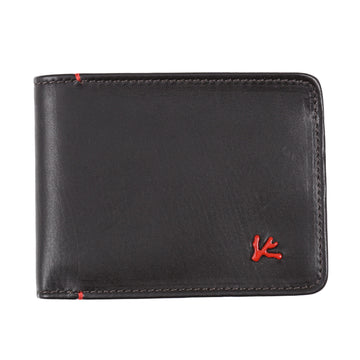Isaia Dark Brown Leather Bifold Wallet