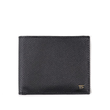 Tom Ford Textured Leather Wallet with Gold Emblem