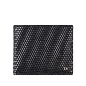Tom Ford Textured Leather Wallet with Silver Emblem