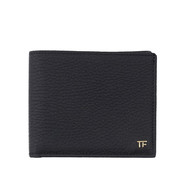 Tom Ford Matte Leather Wallet with Gold Emblem