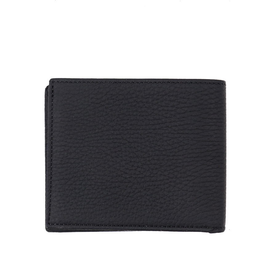 Tom Ford Matte Leather Wallet with Silver Emblem