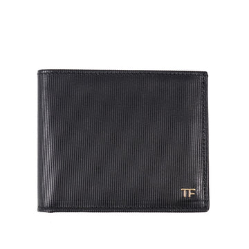Tom Ford Embossed Leather Wallet with Gold Emblem