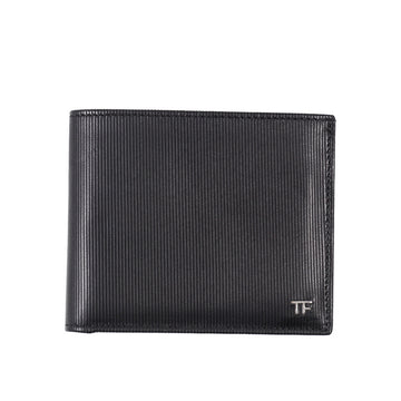Tom Ford Embossed Leather Wallet with Silver Emblem