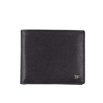 Tom Ford Glossy Leather Wallet with Gold Emblem