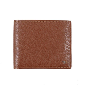 Tom Ford Grained Leather Wallet with Silver Emblem