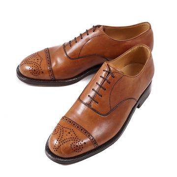 Silvano Lattanzi Medallion Tip Balmoral in Tan - Top Shelf Apparel