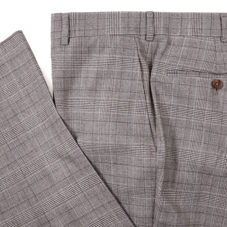 Belvest Layered Check Wool Suit
