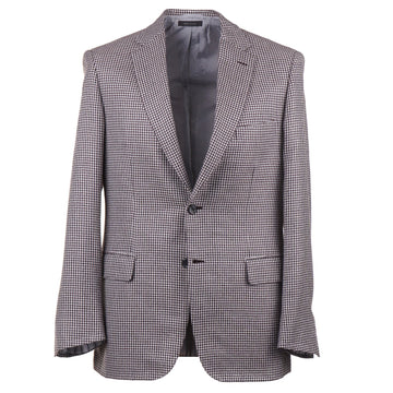 Brioni Houndstooth Cashmere-Silk Sport Coat - Top Shelf Apparel