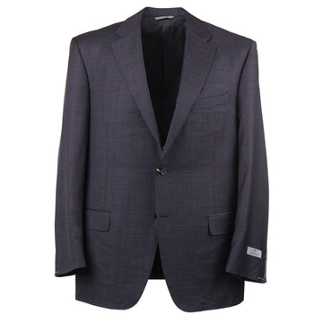 Canali Gray Layered Check Wool Suit - Top Shelf Apparel