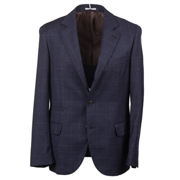 Brunello Cucinelli Windowpane Check Wool Sport Coat