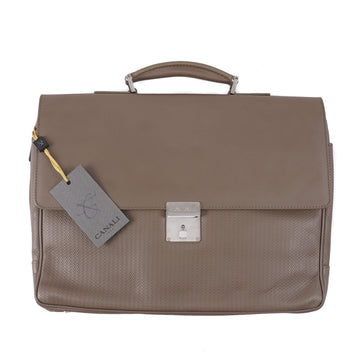 Canali Printed Leather Briefcase - Top Shelf Apparel