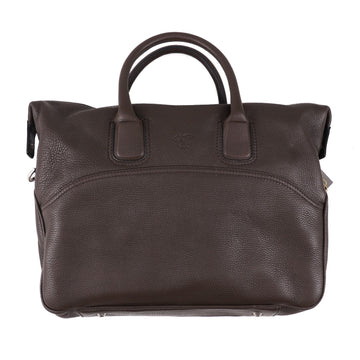 Canali Soft Grained Leather Overnight Bag