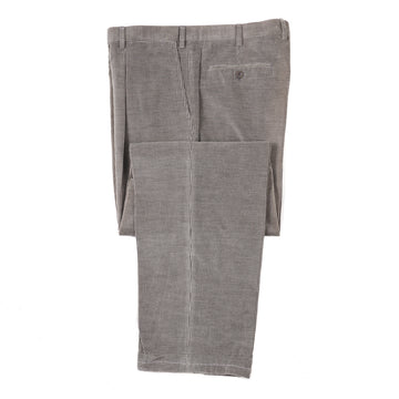 Brioni Gray Corduroy Cotton Pants