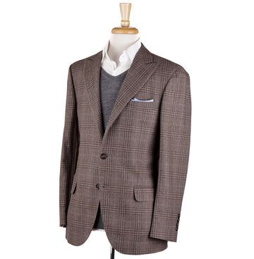 Brunello Cucinelli Light Brown Wool-Silk-Cashmere Sport Coat