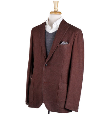 Boglioli Cashmere Sport Coat in Rust Brown