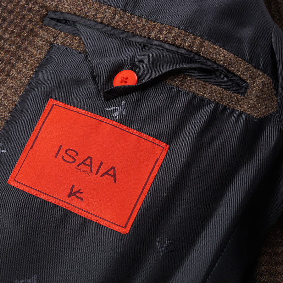 Isaia Large-Scale Check Wool Sport Coat