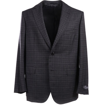 Belvest Charcoal Check Wool Suit