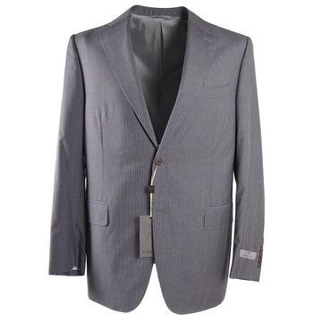 Canali Gray Stripe Travel Wool Suit