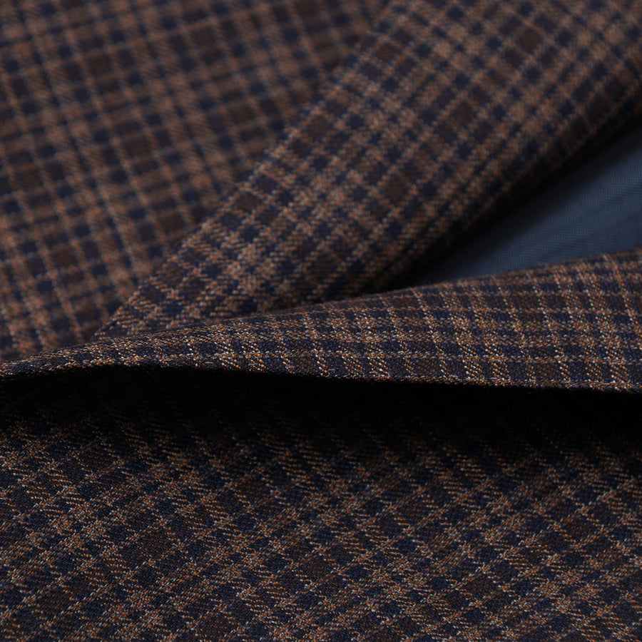 Isaia Layered Check Super 140s Wool Suit