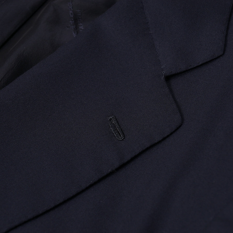 Kiton Solid Navy Wool Suit