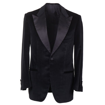 Kiton Black Velvet Tuxedo with Peak Lapels