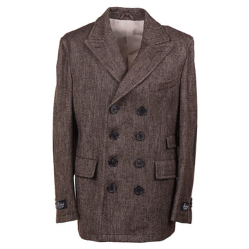 Belvest Donegal Tweed Wool Pea Coat - Top Shelf Apparel