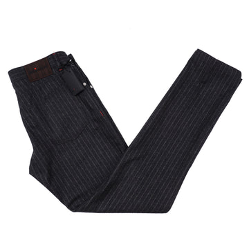 Kiton Slim Fit Five-Pocket Flannel Wool Pants